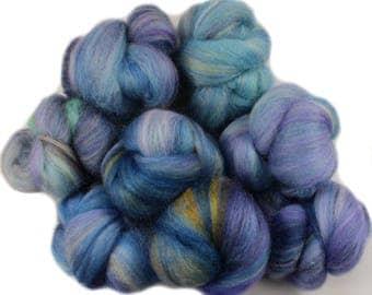 Watercolor Sea battlings -- mini batts (2 oz.) polwarth and merino wool, bamboo, tussah silk.