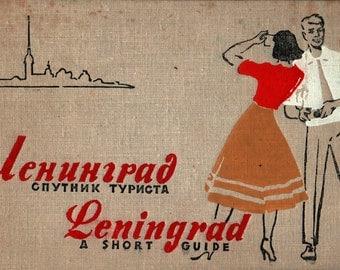 Leningrad a Short Guide - 1960 - Vintage Travel Book