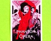 Phantom of the Opera Movie Poster Arts Series Lon Chaney Original 1925 Cult Classic Film Waterproof Vinyl Sticker