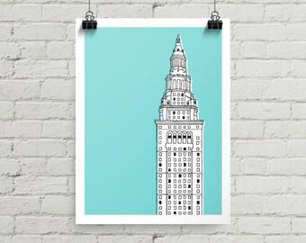 Terminal Tower - Giclee Print
