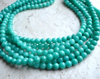 The Michelle- Teal Jade Chunky Necklace
