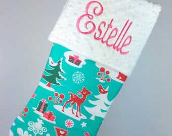 Christmas Stocking, Personalized Christmas Stocking, Monogrammed Christmas Stocking, Baby Christmas Stocking, Monogrammed Baby Stocking