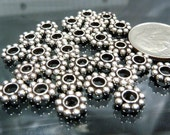 Sterling Silver Bali Beads Lot! Fancy 7mm big daisy spacers closeout destash not scrap