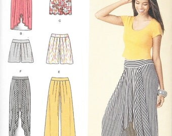Simplicity 1429 - KNIT Maxi SKIRT, PANTS and Shorts - Sewing Pattern - Sizes 6-8-10-12-14 - Uncut