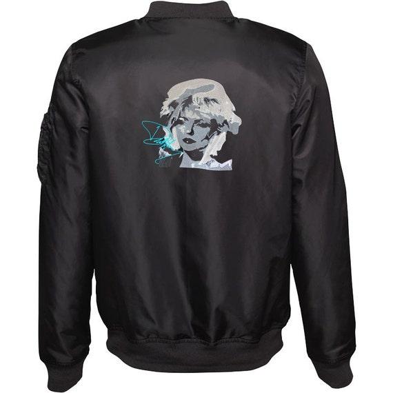 Men's Embroidered Bomber Jacket  - Deborah (Debbie) Harry - Blondie
