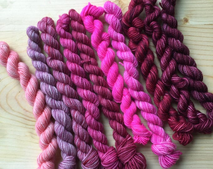 Featured listing image: Color me nasty - 10 mini skeins