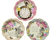 """Alice in Wonderland Party Plates 