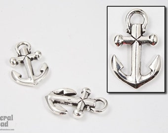 20mm x 12mm Antique Silver Tierracast Pewter Anchor Charm #CKA007