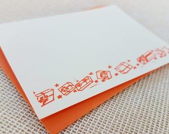Letterpress Enclosure Card - Small Presents