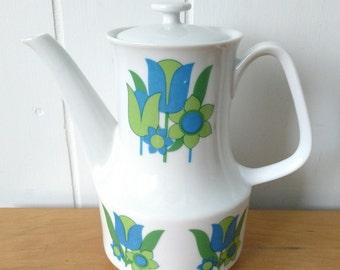 vintage retro mod tulip tea pot