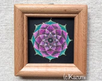 Stipple Mandala - Spring, Sakura, Art, Original