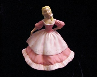 Jamar Ceramic hand painted victorian maiden style , princess like girl