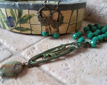 Blue Spruce Serenade Necklace  Earrings