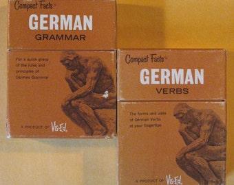 Two Vis-ed German Card Sets (Language Study)