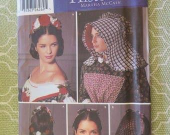 Simplicity 5741 Millinery Hat Sewing Pattern Snood Floral Headpiece Bonnet One Size UNCUT