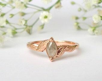 Marquise Leaf Ring - Deposit