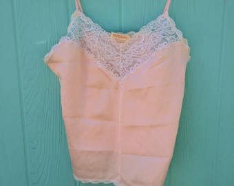 Sweet pink camisole with lace