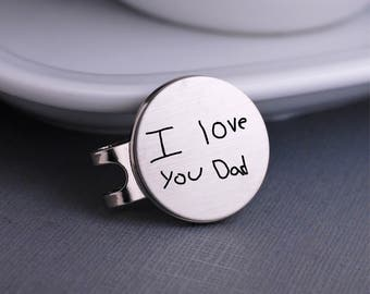Custom Handwriting Golf Ball Markers, Pocket Token, Father's Day Gift for Dad, Golfer Gift, Groom Gift, Your Own Handwritten Message