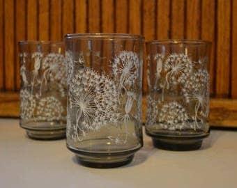 Vintage Libby Dandelion Puffs Juice Glasses (Set of 3) - Royal Hill Vintage