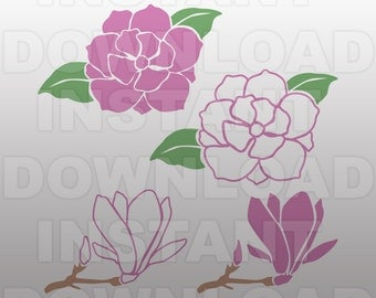 Magnolia Flower Gardening SVG File -Vector Art File For Commercial & Personal Use- SVG for ...