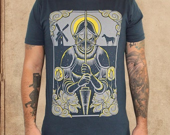Don Quixote - Indigo Blue - discharge ink