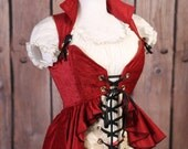 Bust 46-48 Red Overbust Valkyrie Corset