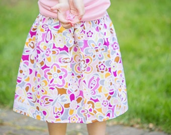 Toddler Girls skirt Butterfly dreams skirt 2 T - 9 Y Boutique Childrens Clothing