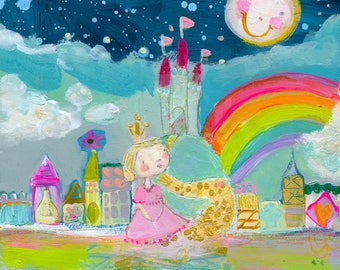 Magical Kingdom - mixed media art print by Mindy Lacefield