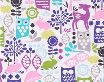Michael Miller Reto Forest Life Fabric, Cotton Fabric, Clothing Fabric, Quilting Fabric, Crafting fabric, By the Yard,  #118
