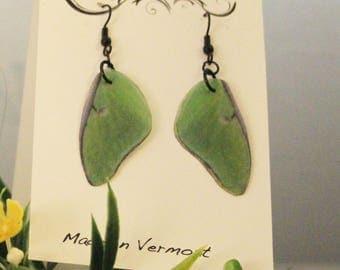 ღ Hand Made Faux Luna Moth Wing Earrings