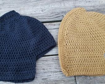 Spartan helmet ADULT SIZE hat, crocheted, choose your color