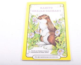 Rabito Orejas Gachas, Vintage, Children's Book, Spanish, Espanol ~ The Pink Room ~