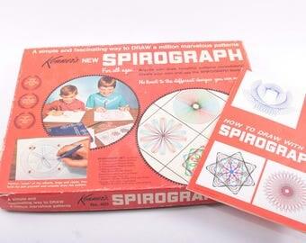 Vintage Spirograph, Kenner, Game, Craft, Drawing, Design, Tool, Kit ~ The Pink Room ~ 161114