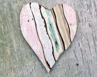 Mosaic Heart, Nursery Decor, Reclaimed Wood Heart, Bohemian Decor, Wood Wall Art Boho Wall Decor, Architectural Salvage Farm House Decor