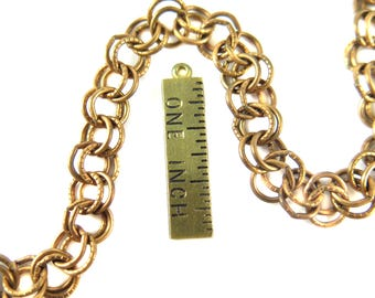 Vintage Brass Plated on Steel Double Cable Chain (33 inches) (C582)