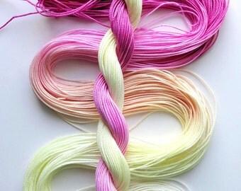 "Size 10 ""Peace"" hand dyed thread 6 cord cordonnet tatting crochet cotton"
