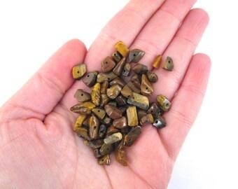 Tigers Eye Gemstone Chip Beads A213