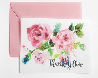Greeting Card - Thank You - Floral