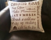 Camper,  Camping Pillow with your choice of camper type by Howard Avenue