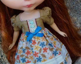Falling Leaves - A Dress for Blythe