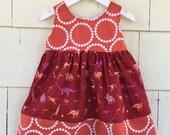 Paleontologist Dress | Science Dress | Dino Girls Clothing |Natural History | Dinosaur Birthday Party | Stem Nerd | Baby Gift | Toddler Girl