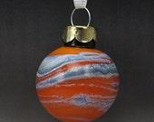 ON SALE Handmade Lampwork Glass Blown Hollow Ornament by Jason Powers SRA
