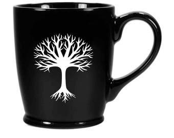Tree Mug - outdoorsy coffee cup - Choose Your Color