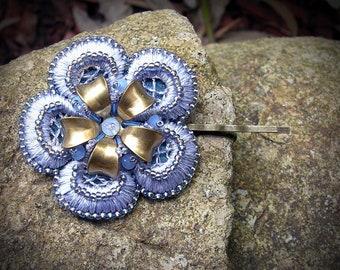 Crystal hair pins - wedding hair pin - bridal hairpiece - bridal hair pins - wedding hair pins - blue crystal pin - something blue pin