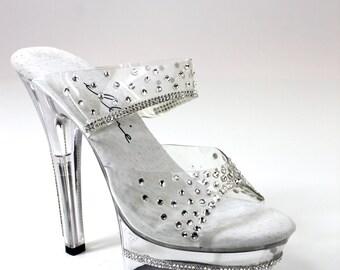 Rhinestone Trim Sparkling Shoes / Bikini Figure Competition Shoes