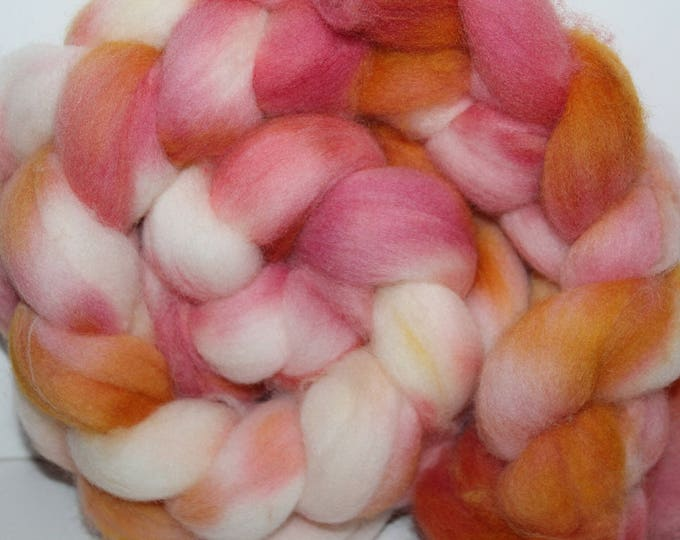 Kettle Dyed Falkland Wool Top.  Soft and easy to spin. 4oz  Braid. Spin. Felt. Roving. F73