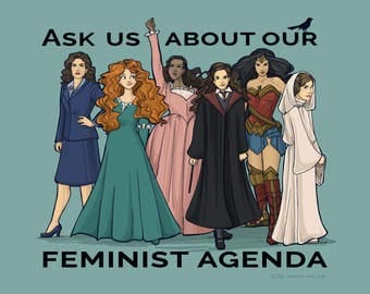 Feminist Agenda Medium Print (Item 03-384-BB)