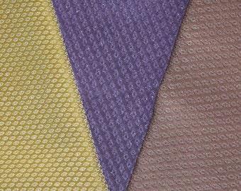 Vintage Japanese Kimono Fabric Bundle 3 Sleeve Mix Crafting - Bumpy Weave