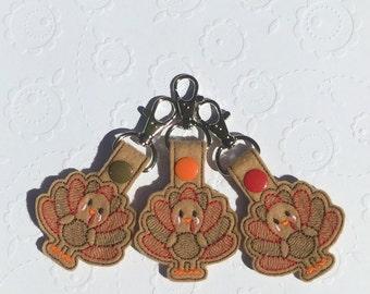 Turkey Embroidered Keychain, Keyfob, Turkey, Holidays