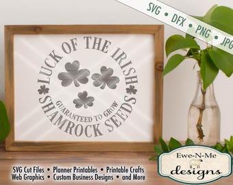 St Patricks Day SVG File - St Patricks svg - Shamrock SVG - Luck of the Irish - Shamrocks -  Commercial Use svg, dxf, png and jpg